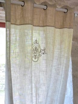 Rideau provencal lin modificare una pelliccia - Rideaux style cottage ...