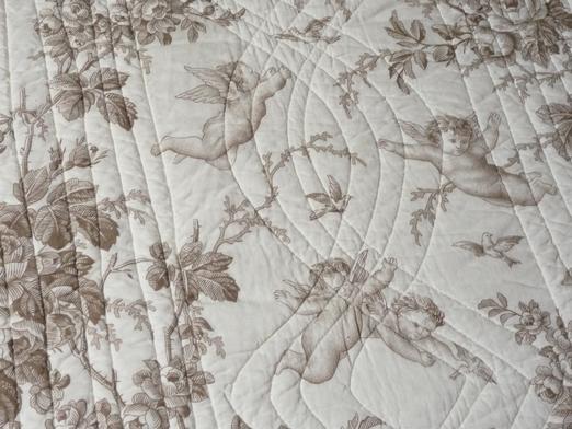 couvre lit ange couvre lit boutis modèle les angelots beige 230/250 cm couvre lit ange