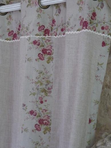 couvre lit boutis et rideaux assortis rideaux charme d' autrefois Couleur lin couvre lit boutis et rideaux assortis