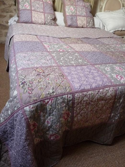 Couvre lit boutis kashmir patchwork 255 270 cm pour lit - Boutis et rideaux assortis ...