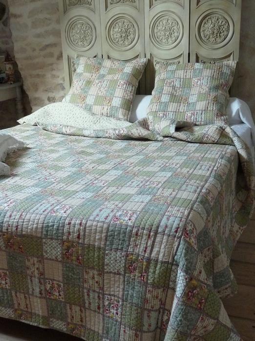 couvre lit en anglais couvre lit boutis Jardin Anglais 230/250 cm couvre lit en anglais