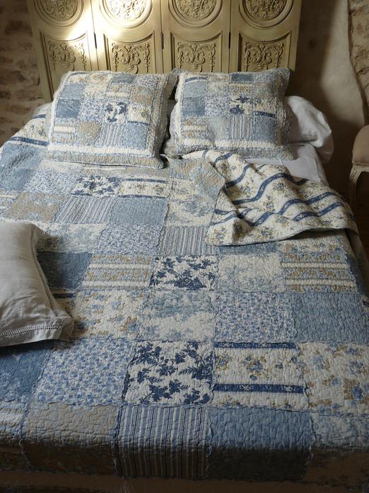 couvre lit patchwork bleu couvre lit boutis patchwork bleu 230/250 cm couvre lit patchwork bleu